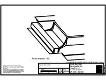 Tabla plana pentru invelitori titan zinc - Racordarea invelitorilor RHEINZINK klick-system la cosuri de fum - 2D RHEINZINK