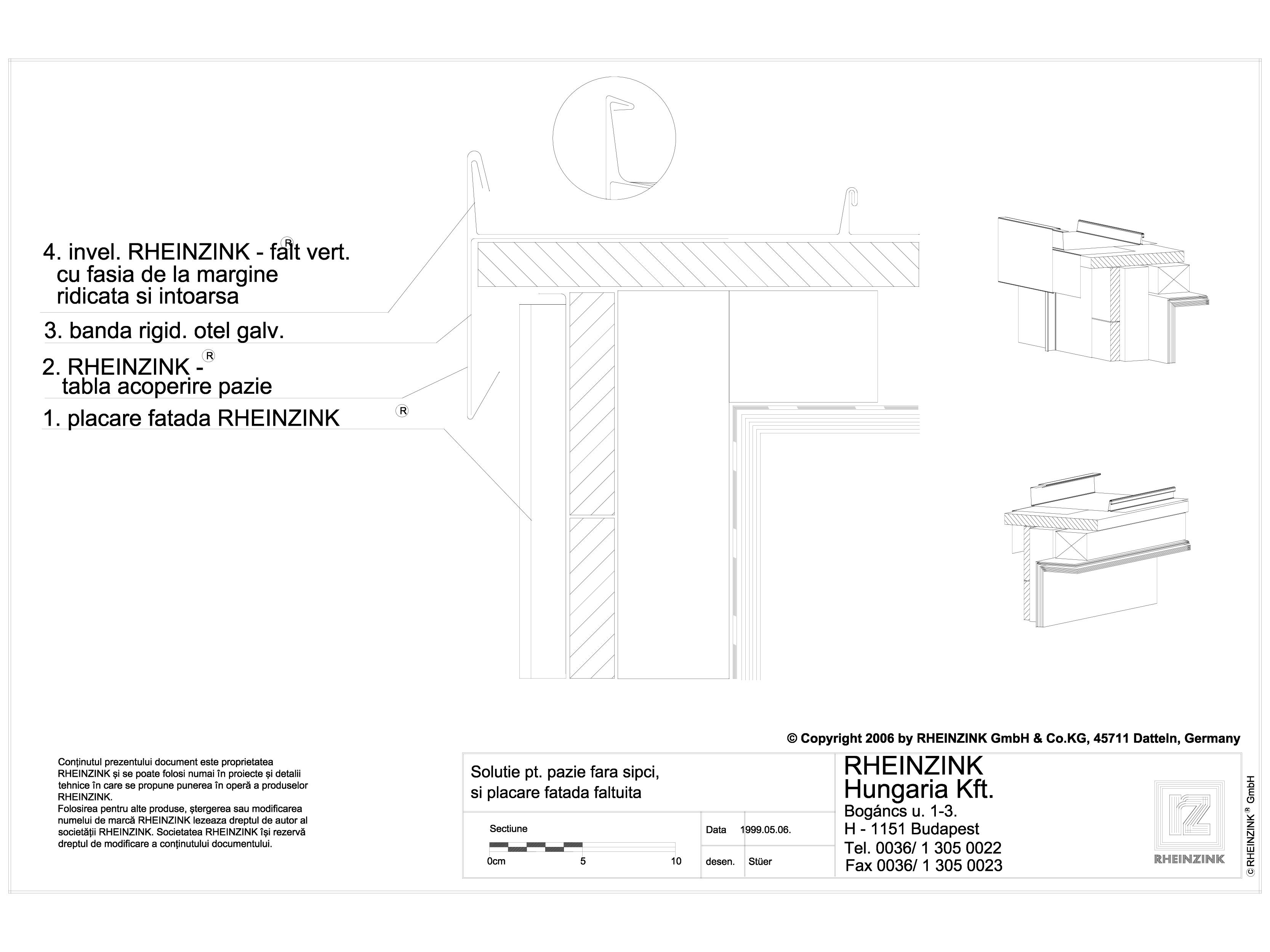 Pagina 1 - CAD-DWG Tabla plana pentru invelitori titan zinc - Solutie pentru pazie fara sipci, si...
