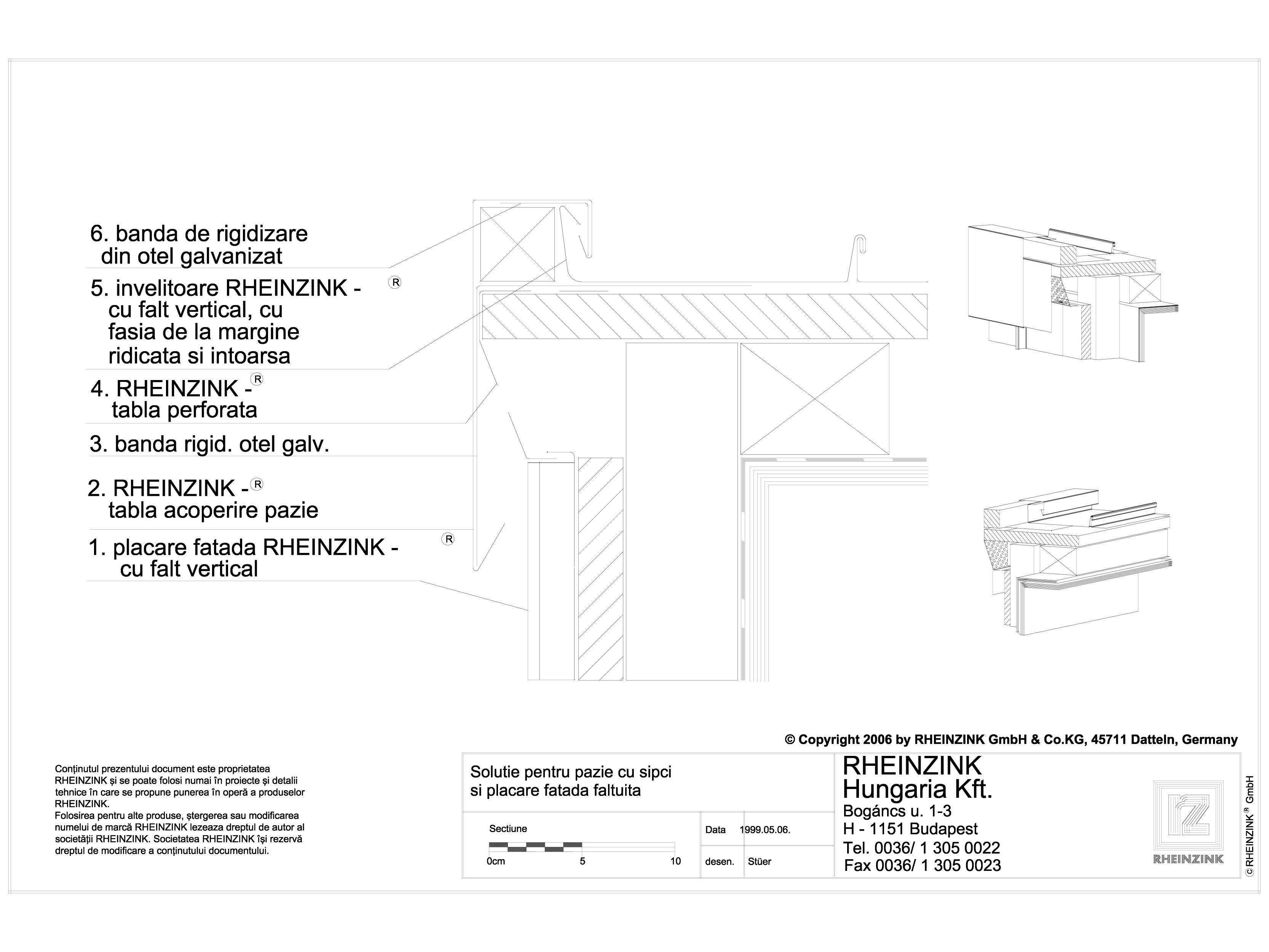 Pagina 1 - CAD-DWG Tabla plana pentru invelitori titan zinc - Solutie pentru pazie, cu sipci si...
