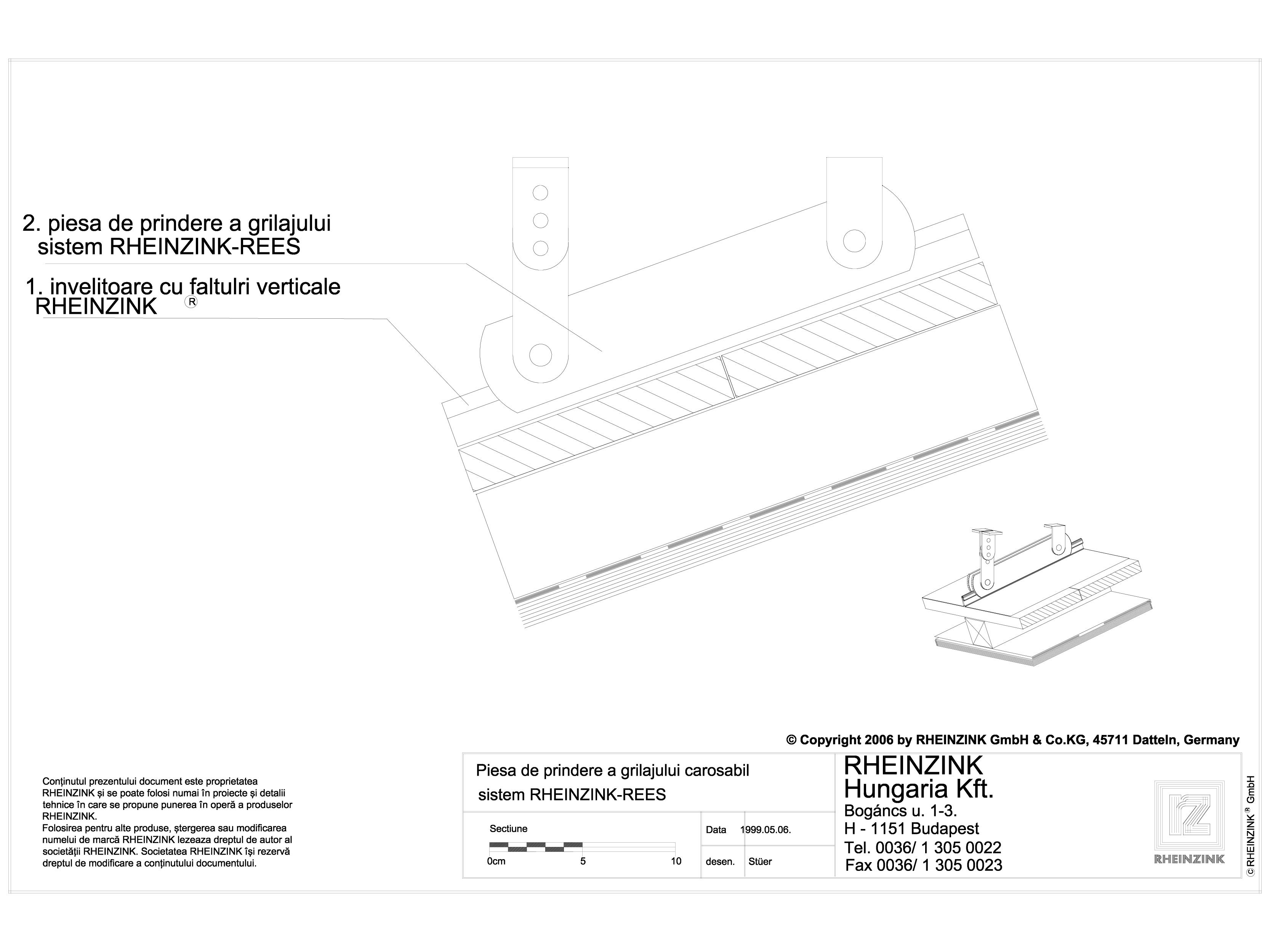 Pagina 1 - CAD-DWG Tabla plana pentru invelitori titan zinc - Piesa de prindere a grilajului...