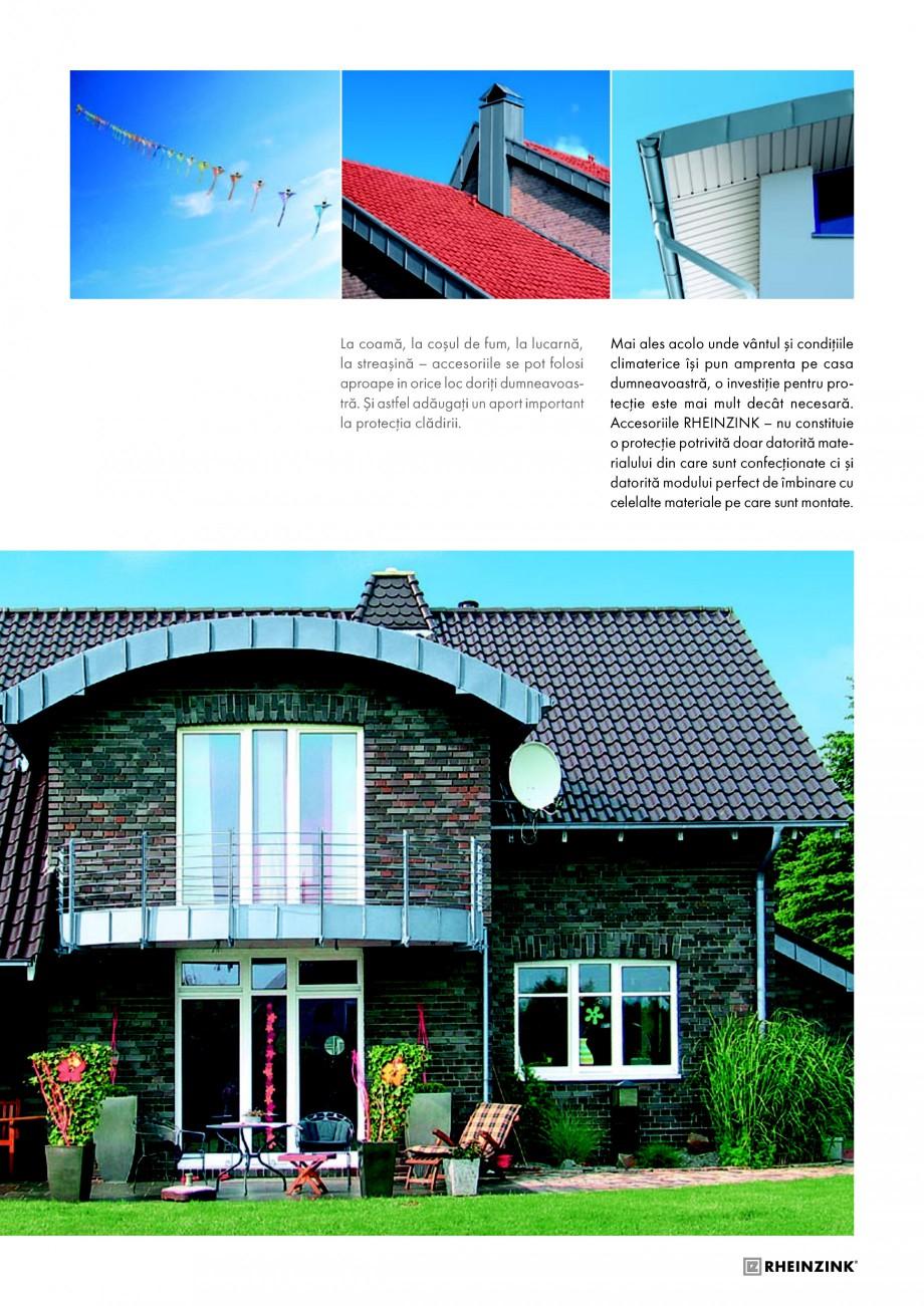 Pagina 5 - Tabla plana pentru invelitori titan zinc - Detalii arhitectonice RHEINZINK RHEINZINK®...