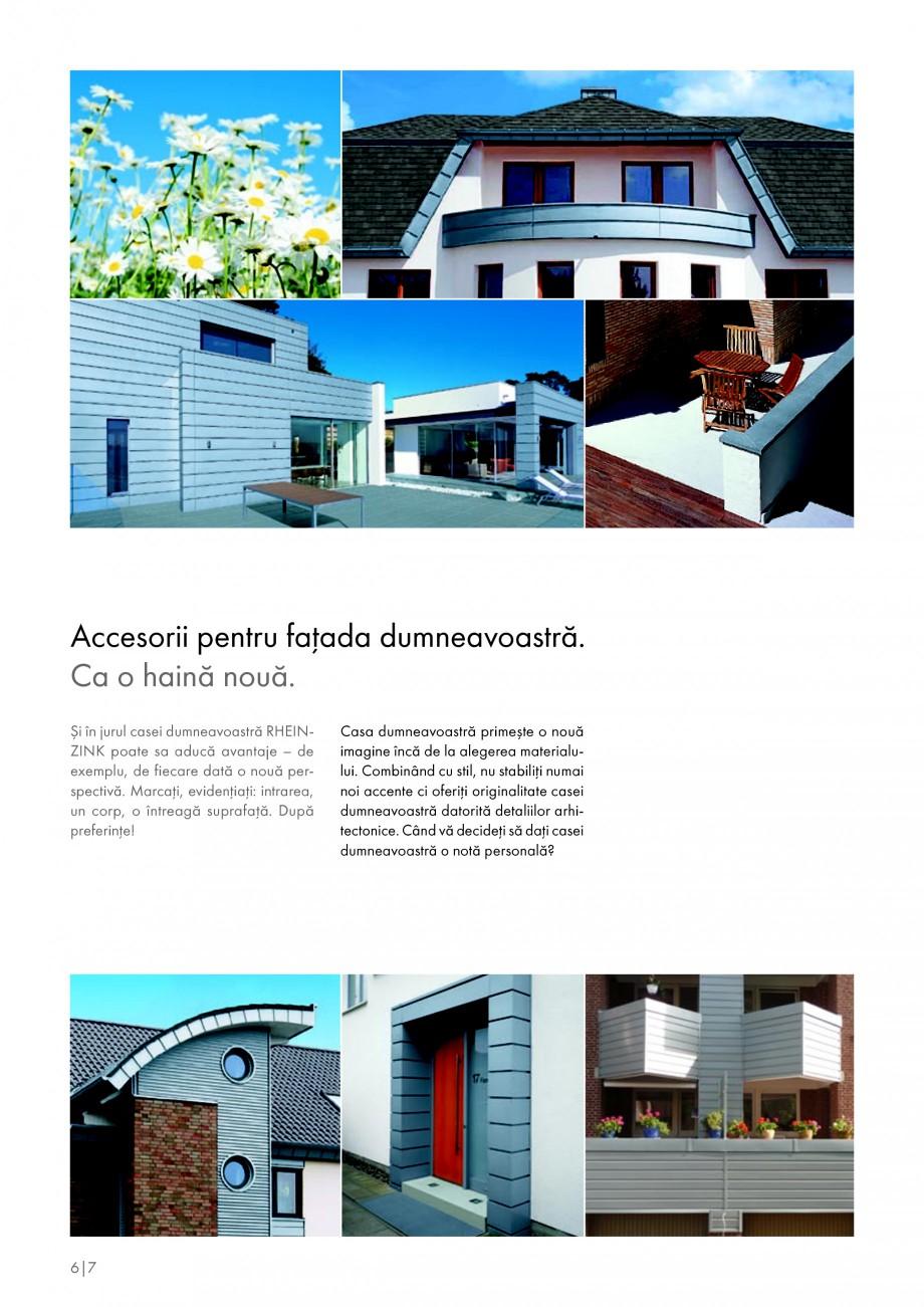 Pagina 6 - Tabla plana pentru invelitori titan zinc - Detalii arhitectonice RHEINZINK RHEINZINK®...
