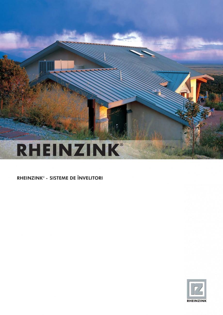 Pagina 1 - Tabla plana pentru invelitori titan zinc - Sisteme de invelitori RHEINZINK RHEINZINK®...