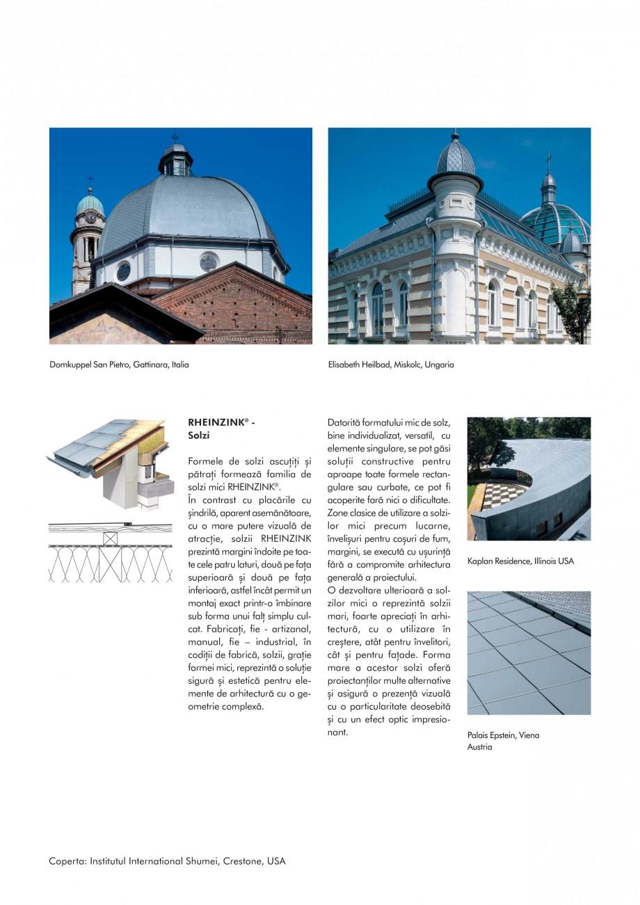 Pagina 3 - Tabla plana pentru invelitori titan zinc - Sisteme de invelitori RHEINZINK RHEINZINK®...