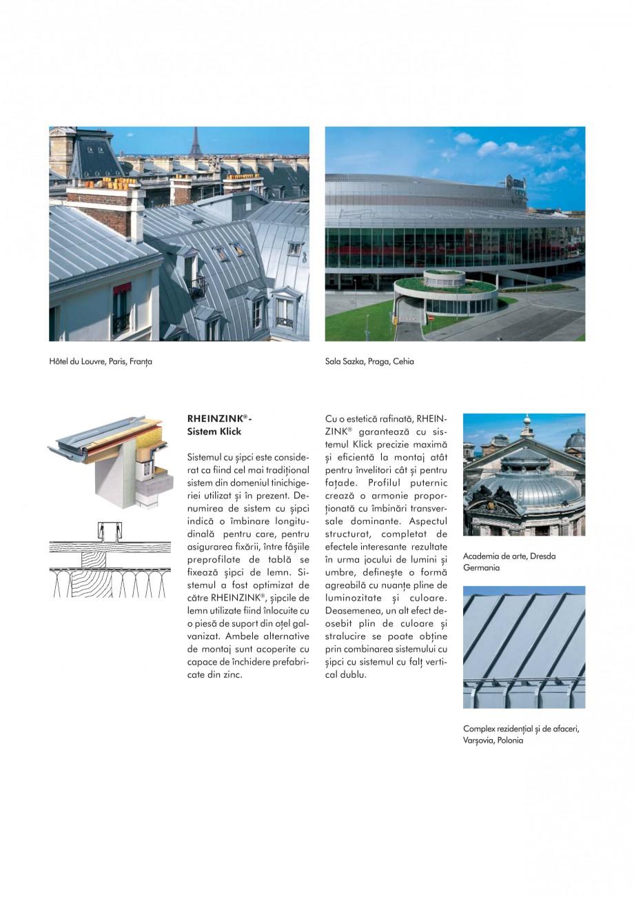 Pagina 6 - Tabla plana pentru invelitori titan zinc - Sisteme de invelitori RHEINZINK RHEINZINK®...