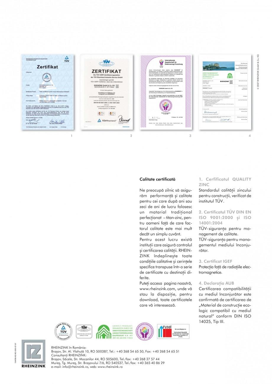 Pagina 8 - Tabla plana pentru invelitori titan zinc - Sisteme de invelitori RHEINZINK RHEINZINK®...