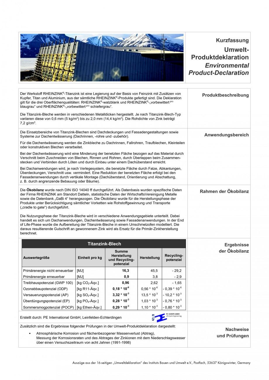 Pagina 3 - Tabla plana pentru invelitori titan zinc RHEINZINK Catalog, brosura Romana tionsinhaber...