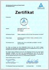 Certificat de calitate pentru tabla plana pentru invelitori RHEINZINK