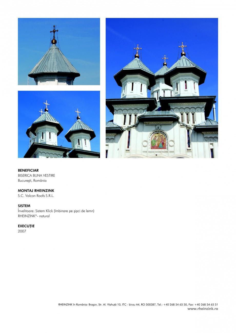 Pagina 2 - Tabla plana pentru invelitori titan zinc - Biserica Sfanta Buna Vestire RHEINZINK...