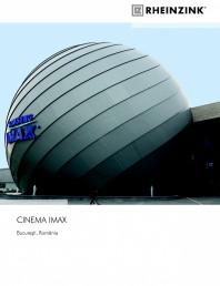 Tabla plana pentru invelitori titan zinc - Cinema IMAX