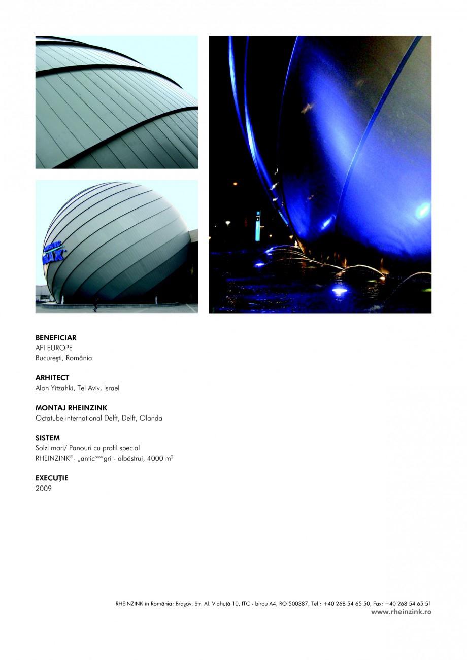 Pagina 2 - Tabla plana pentru invelitori titan zinc - Cinema IMAX RHEINZINK Lucrari, proiecte Romana...