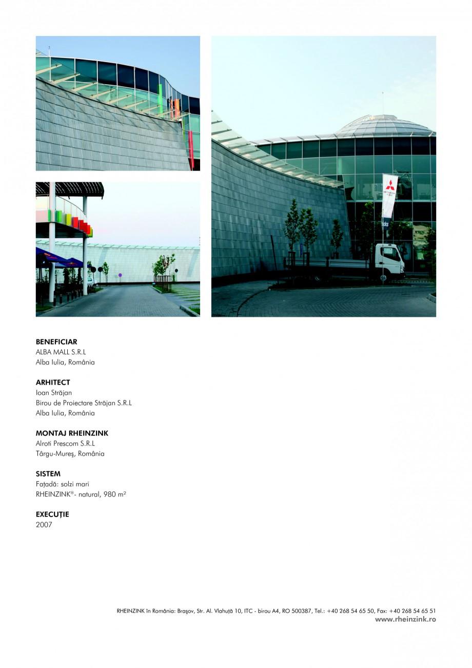 Pagina 2 - Tabla plana pentru invelitori titan zinc - Mall Alba RHEINZINK RHEINZINK® Lucrari,...