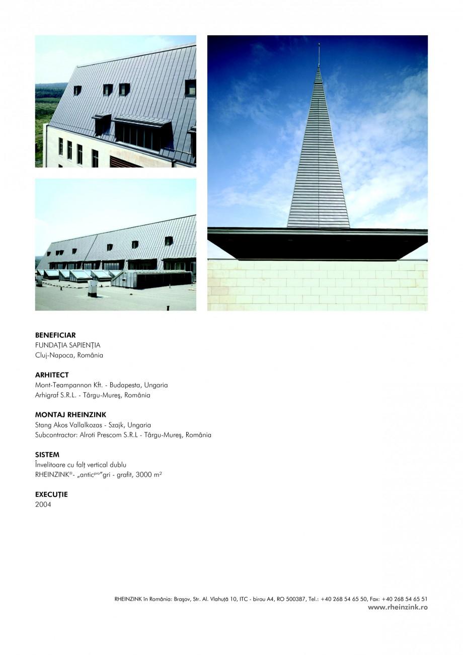 Pagina 2 - Tabla plana pentru invelitori titan zinc - Universitatea Sapientia RHEINZINK...