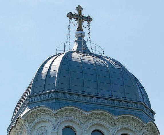 Tabla plana pentru invelitori titan zinc - Biserica Sf. Nicolae Vladica RHEINZINK - Poza 2