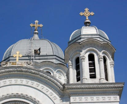 Biserica Sf Nicolae Vladica - acoperis RHEINZINK® Tabla plana pentru invelitori titan zinc - Biserica Sf