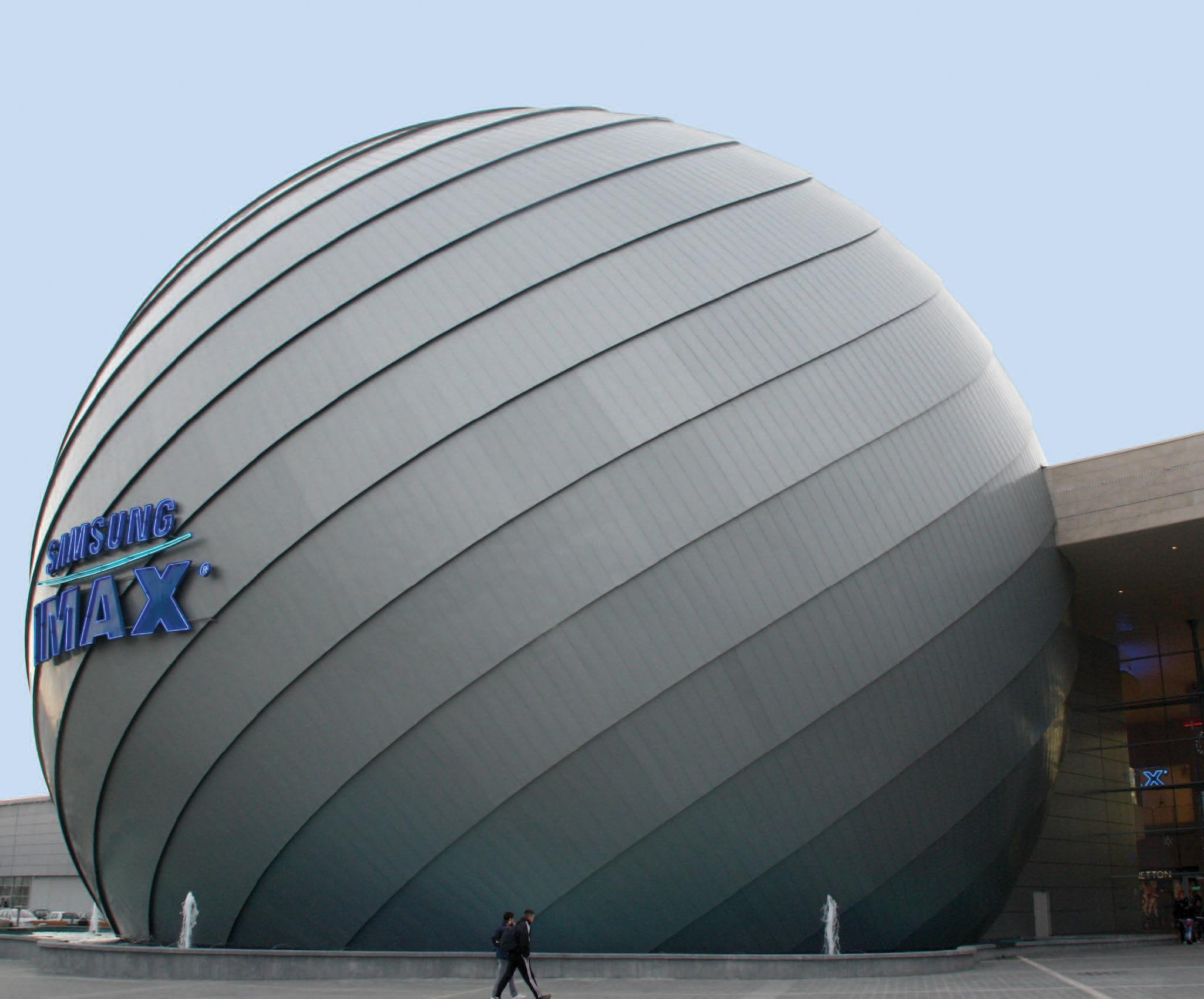Tabla plana pentru invelitori titan zinc - Cinema IMAX RHEINZINK - Poza 3