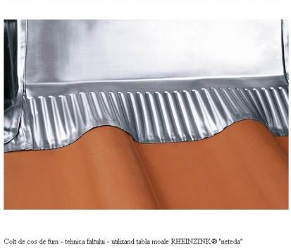"Colt de cos de fum - tehnica faltului - utilizand tabla moale RHEINZINK® ""neteda"" RHEINZINK® Tabla"