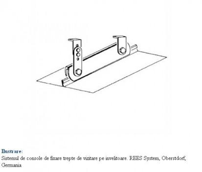 Ilustrare a sistemului de console de fixare pe invelitoare RHEINZINK® Tabla plana pentru invelitori titan zinc