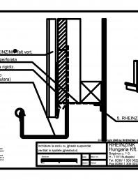 Inchidere la soclu cu jgheab suspendat ventilat in spatele jgheabului