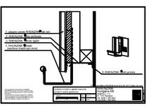 Inchidere la soclu cu jgheab suspendat ventilat in spatele jgheabului RHEINZINK