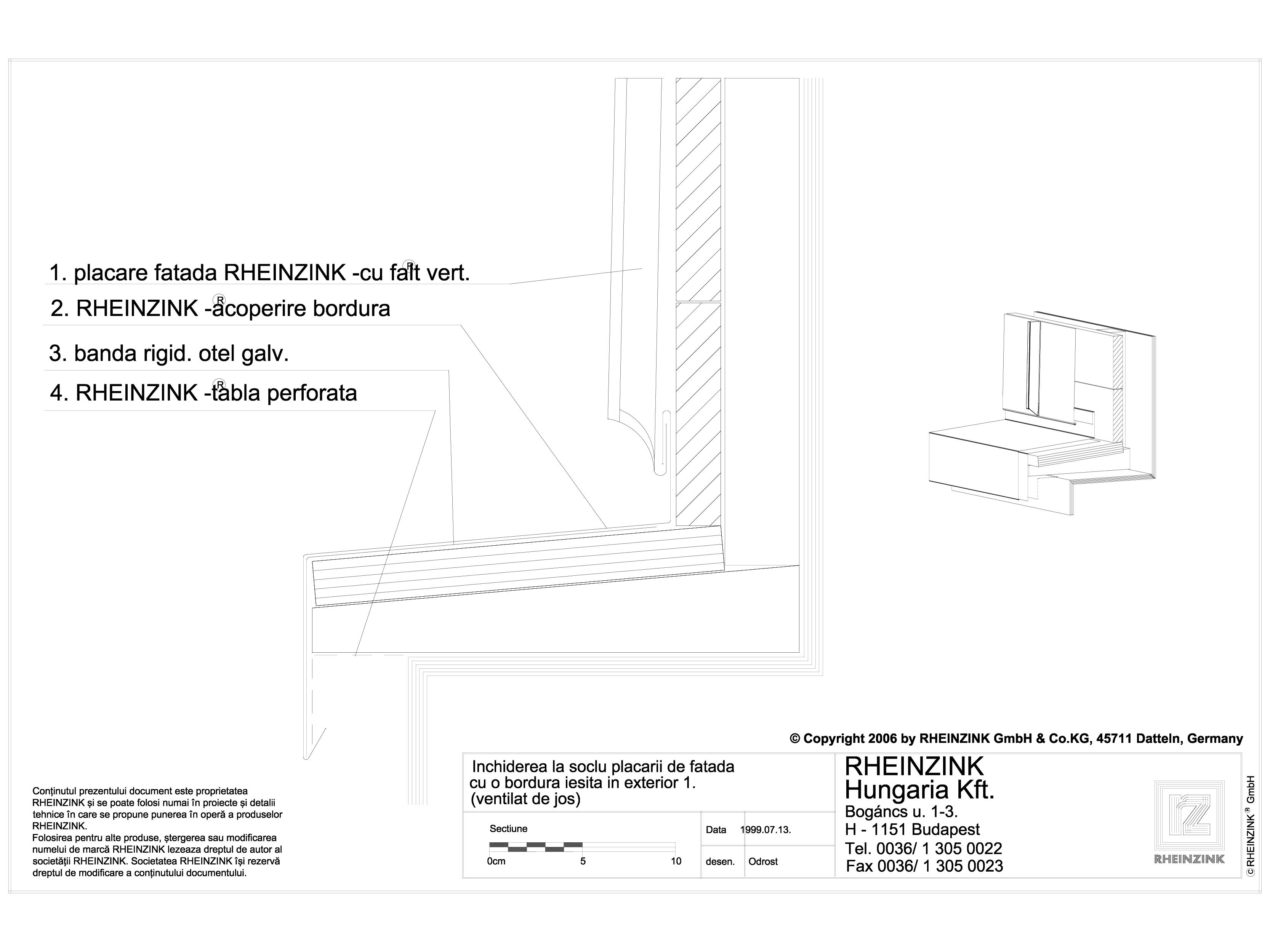 Pagina 1 - CAD-DWG Inchiderea la soclu a placarii de fatada cu o bordura iesita in exterior 1...