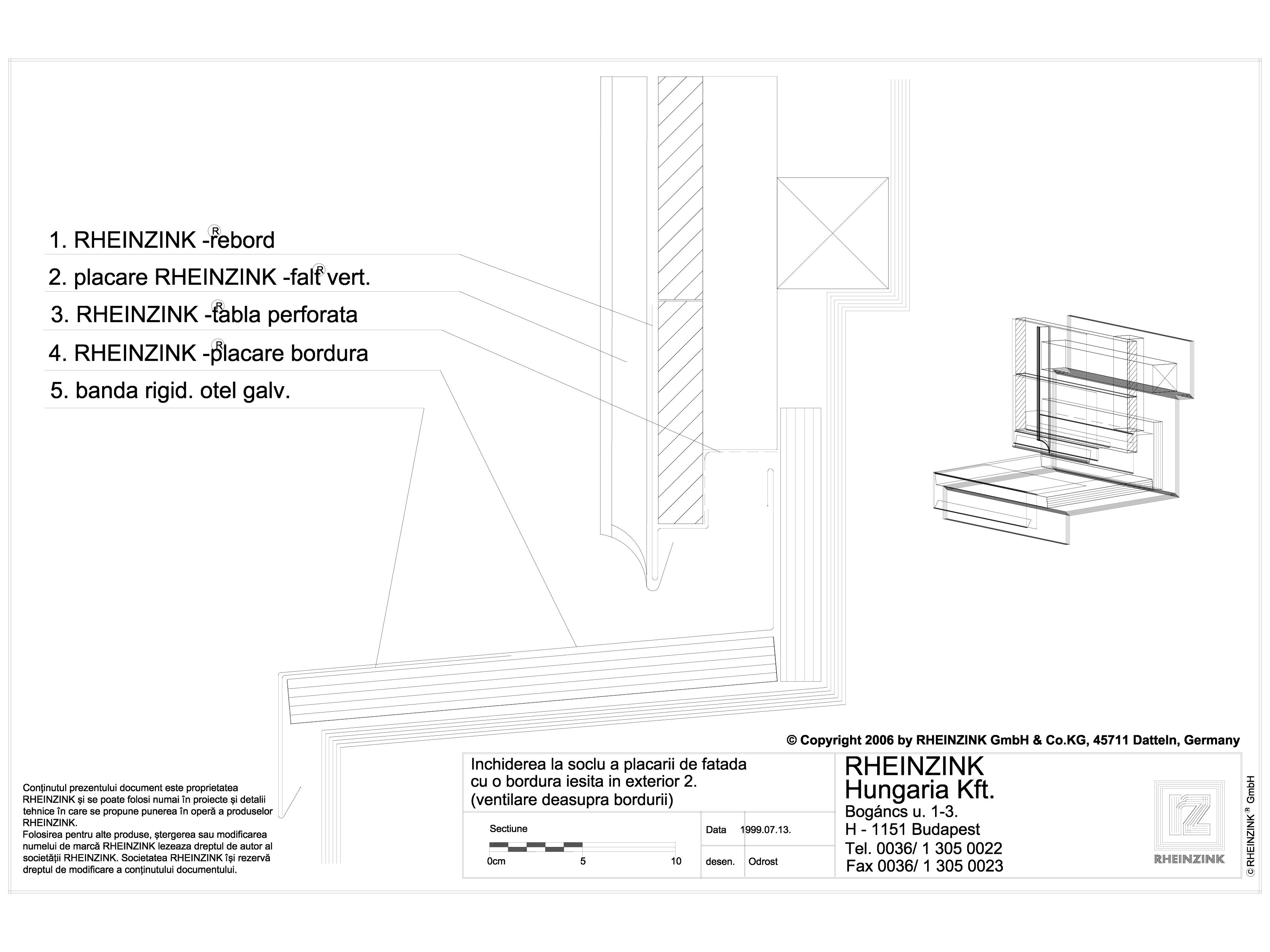 Pagina 1 - CAD-DWG Inchiderea la soclu a placarii de fatada cu o bordura iesita in exterior 2...