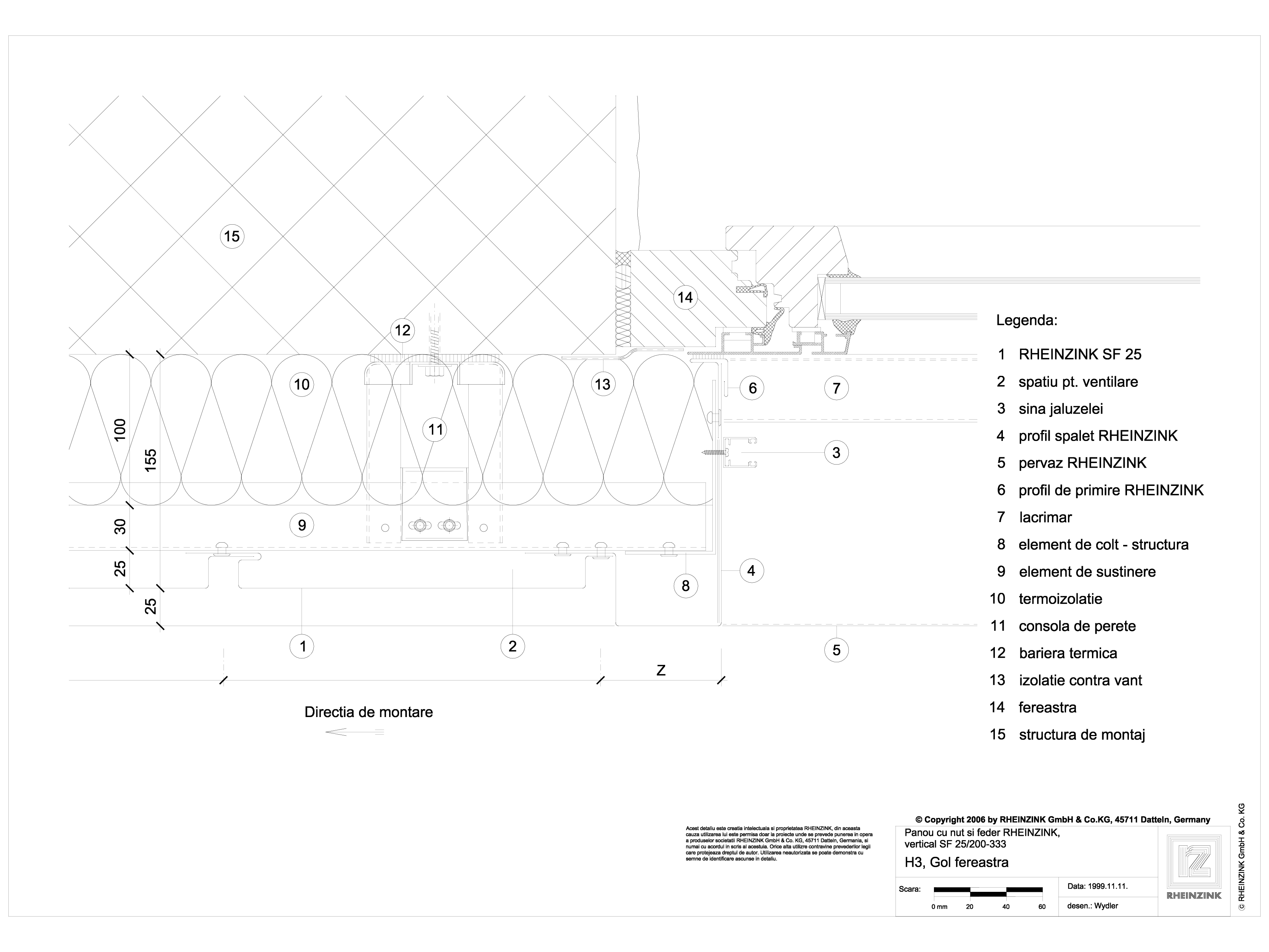 Pagina 1 - CAD-DWG Panou cu nut si feder - H3 Gol de fereastra cu element iesit din planul peretelui...