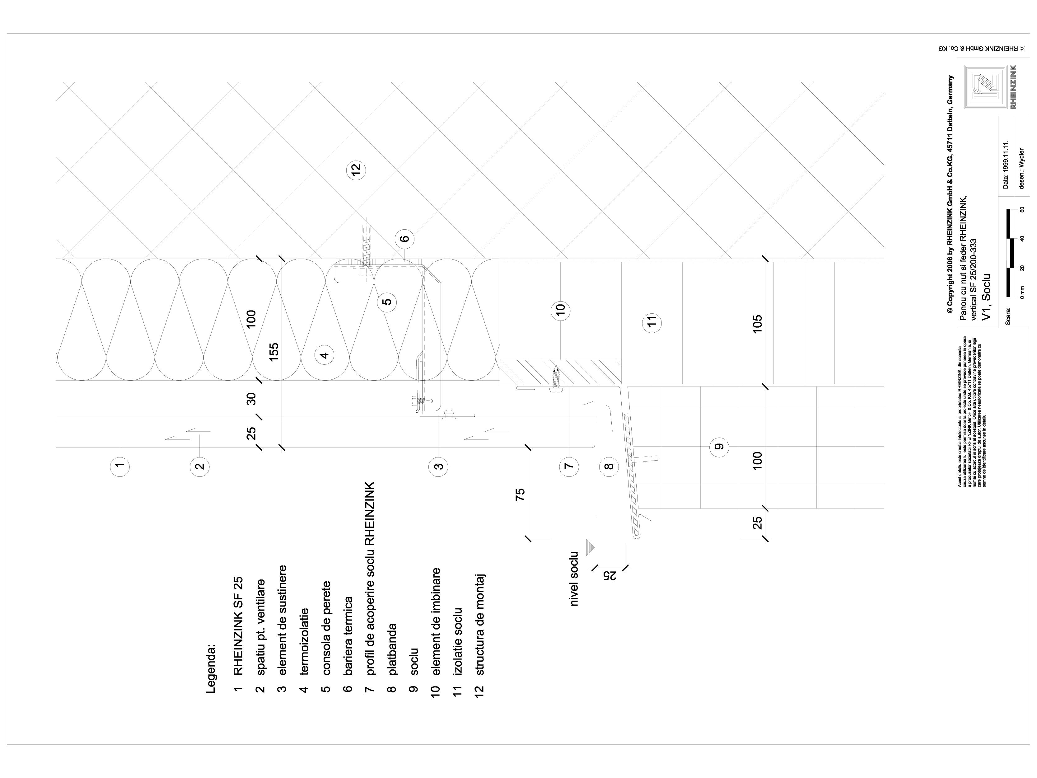 Pagina 1 - CAD-DWG Panou cu nut si feder - V1 Soclu cu element de inchidere cu forma de lama...
