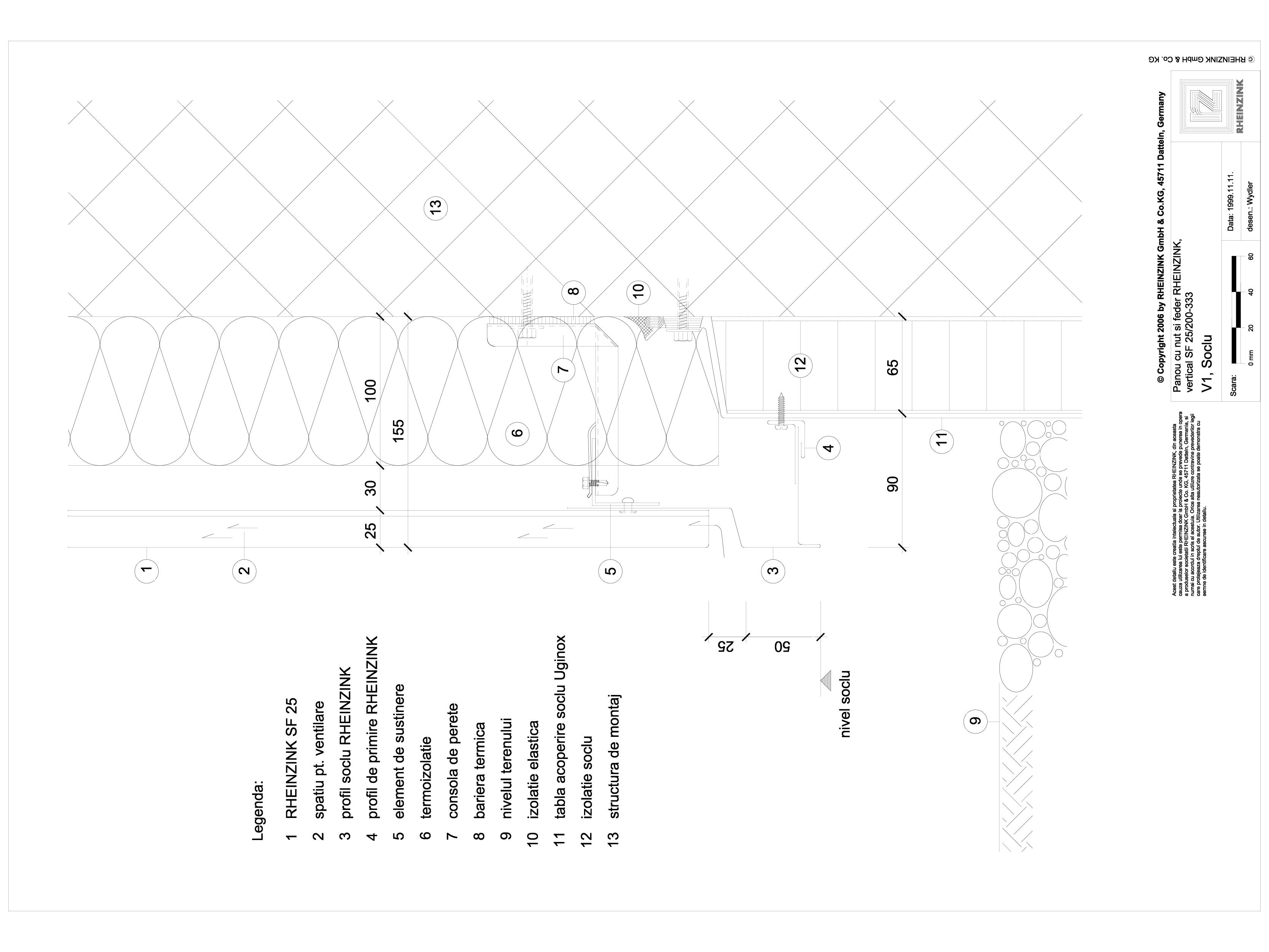 Pagina 1 - CAD-DWG Panou cu nut si feder - V1 Soclu cu lacrimar cu sectiune dreptunghiulara...