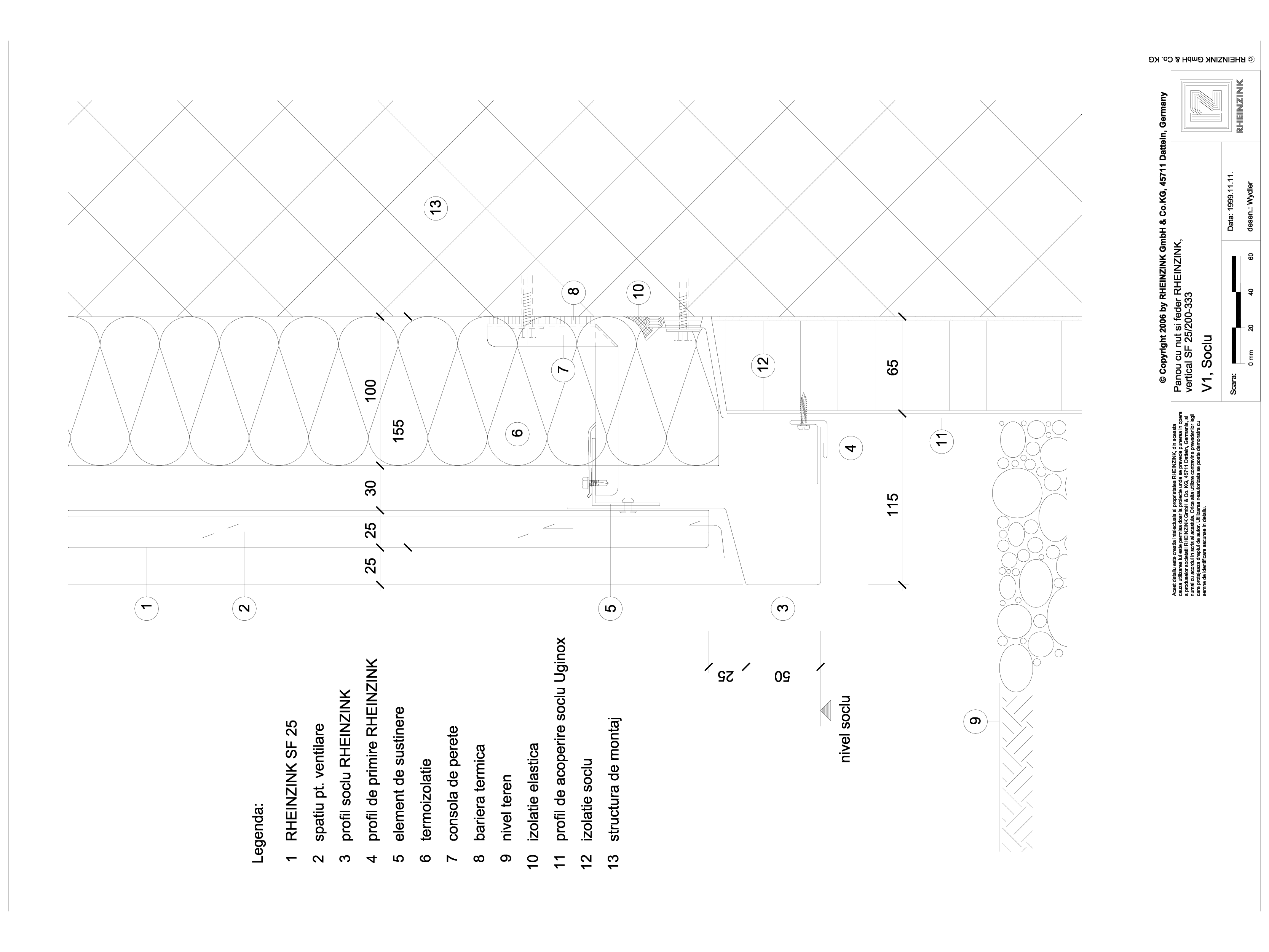 Pagina 1 - CAD-DWG Panou cu nut si feder - V1 Soclu cu profil cu sectiune dreptunghiulara iesit din ...