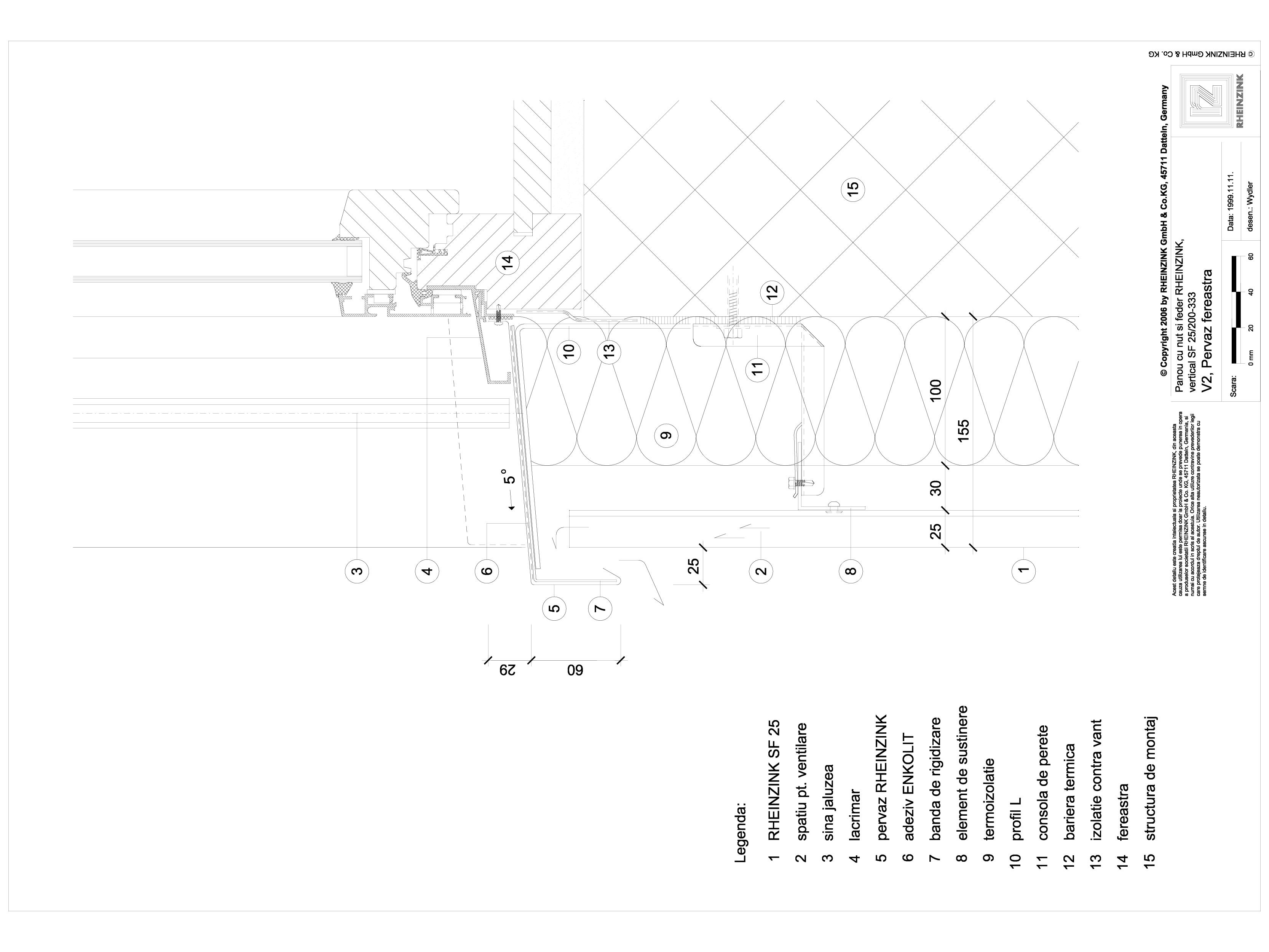 Pagina 1 - CAD-DWG Panou cu nut si feder - V2 Pervaz de fereastra iesit din planul peretelui, cu...