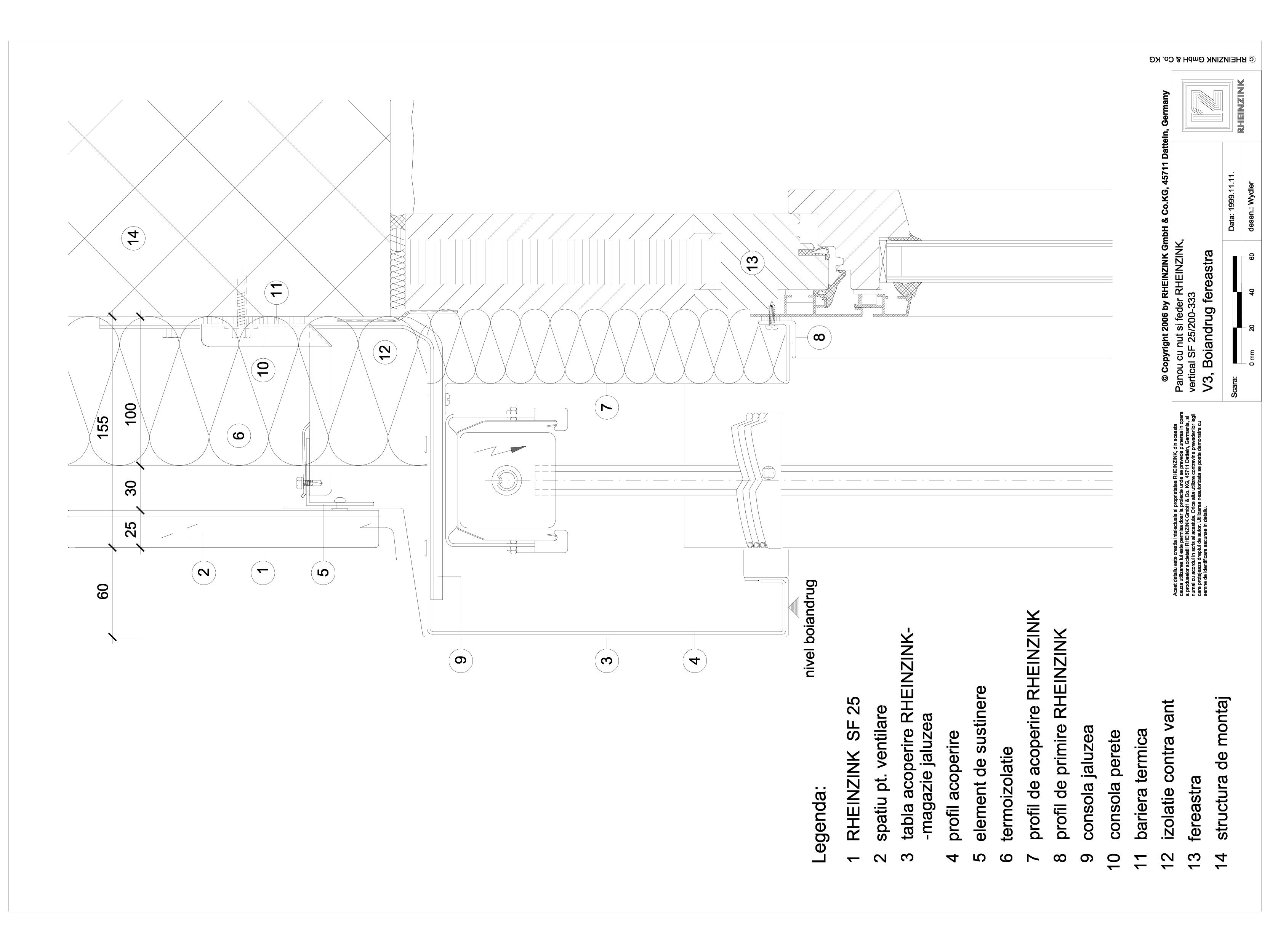 Pagina 1 - CAD-DWG Panou cu nut si feder - V3 Boiandrug fereastra cu magazia jaluzelei iesita din...
