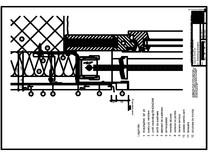 Panou cu nut si feder - V3 Boiandrug fereastra in acelasi plan cu magazia jaluzelei RHEINZINK