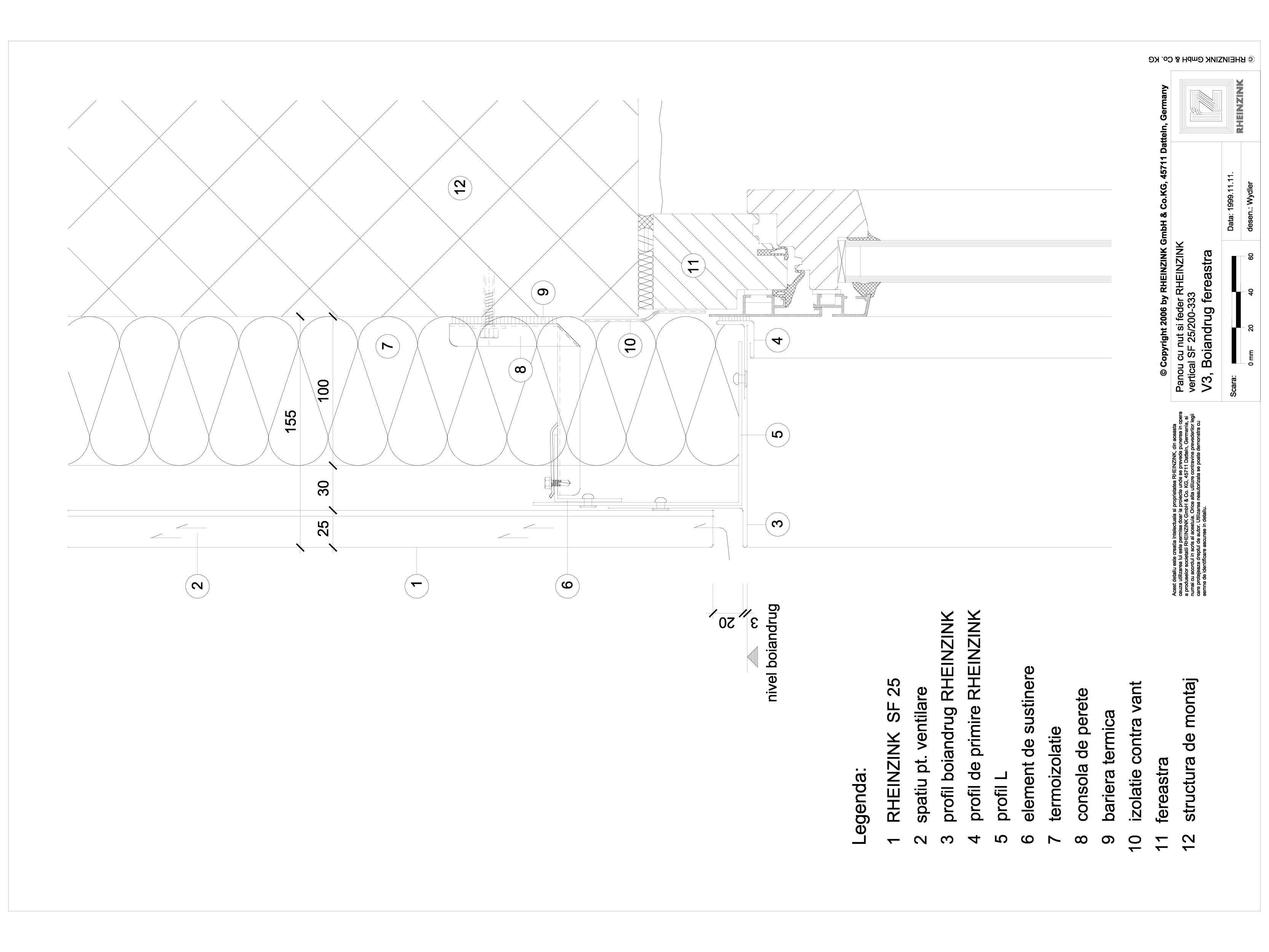 Pagina 1 - CAD-DWG Panou cu nut si feder - V3 Boiandrug fereastra in planul peretelui cu element cu ...