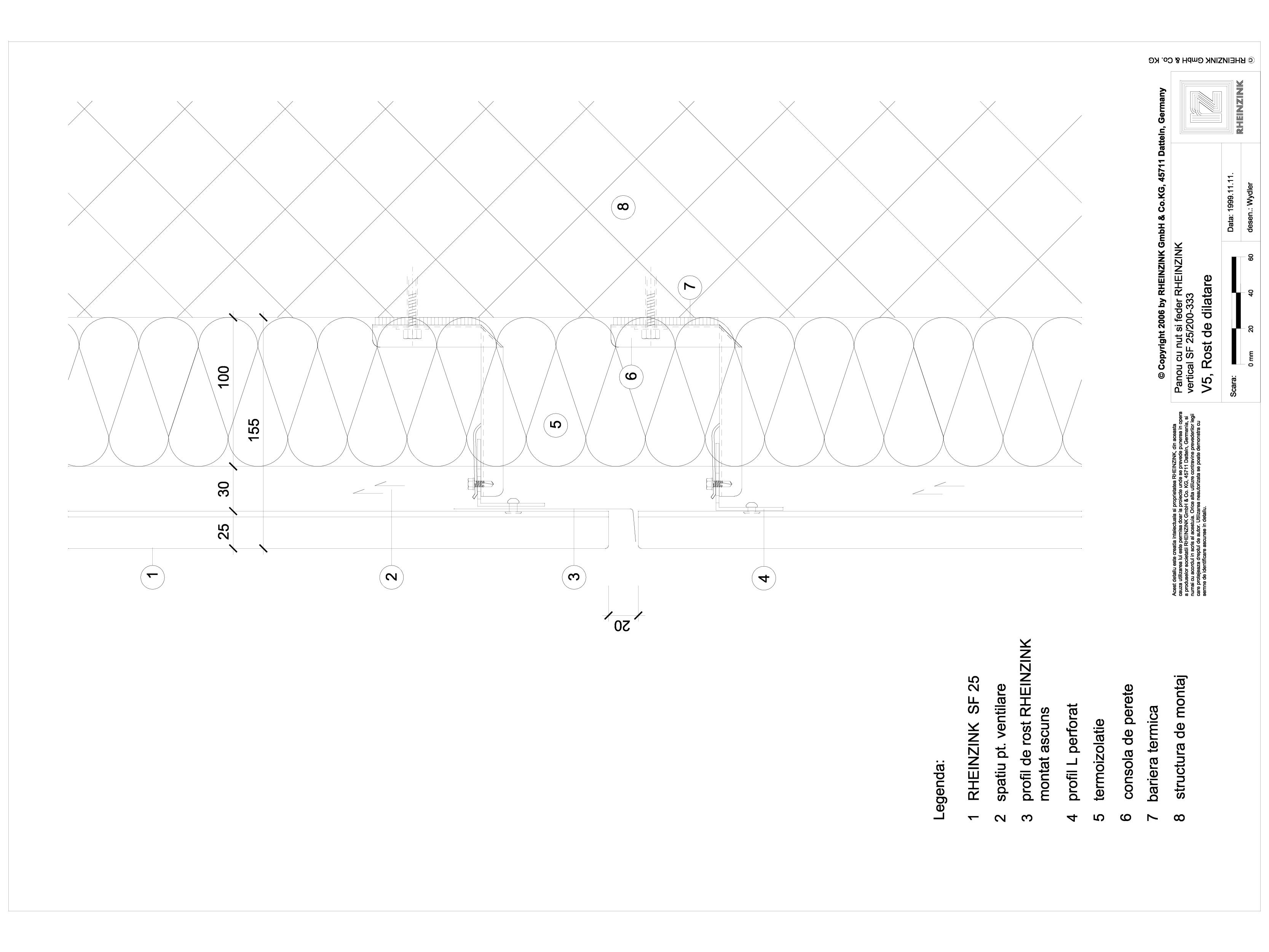 Pagina 1 - CAD-DWG Panou cu nut si feder - V5 Rost de dilatatie cu element montat pe spatele...