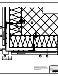H1 Colt exterior in planul placarii peretelui