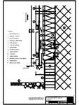 V1 Soclu in planul placarii peretelui RHEINZINK - orizontale