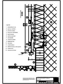 V1 Soclu in planul placarii peretelui RHEINZINK