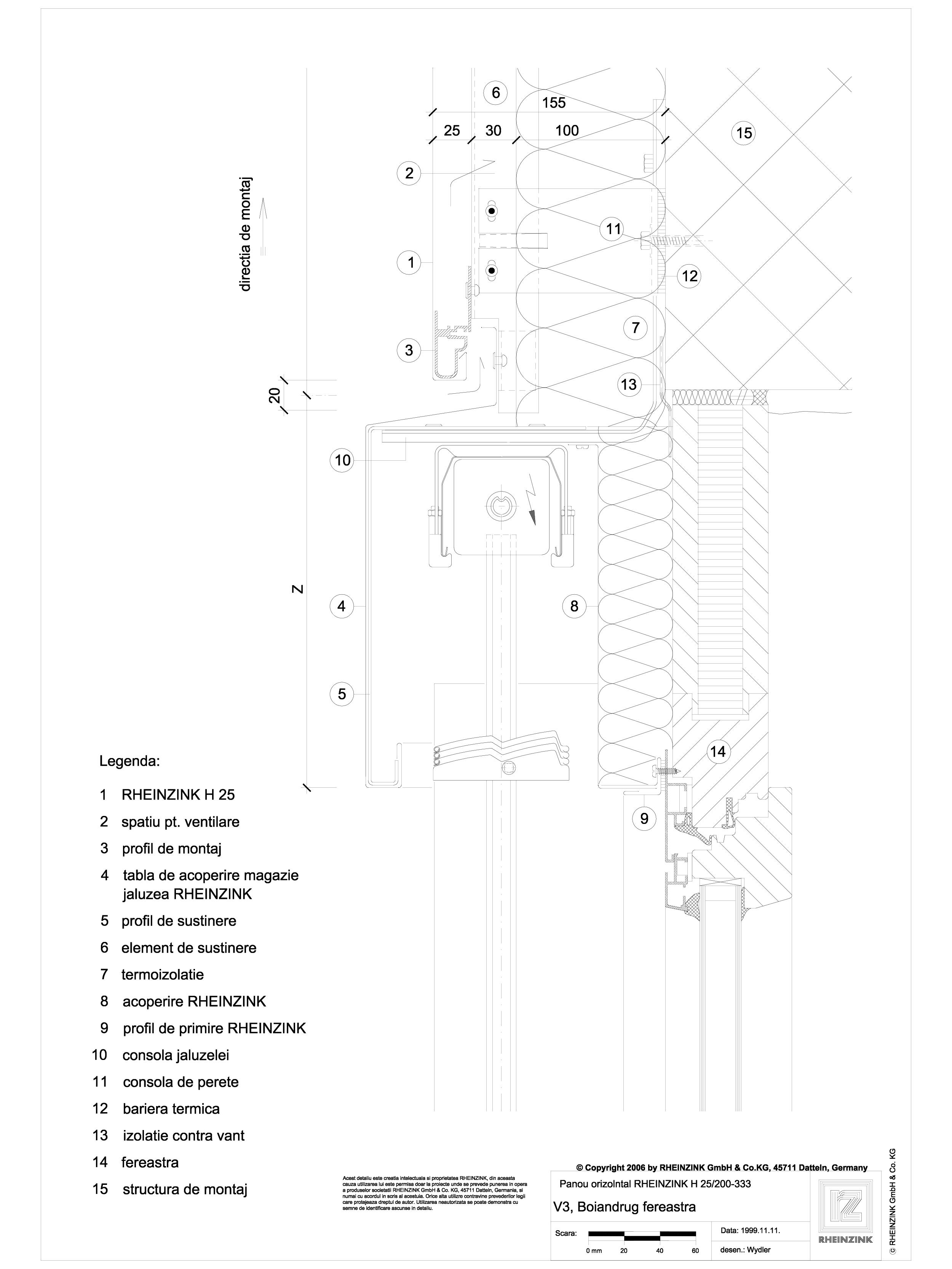 Pagina 1 - CAD-DWG V3 Boiandrug fereastra cu magazie de jaluzea iesita din planul placarii RHEINZINK...