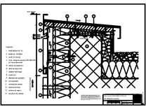 V4 Rebord cu doua piese in planul placarii peretelui RHEINZINK