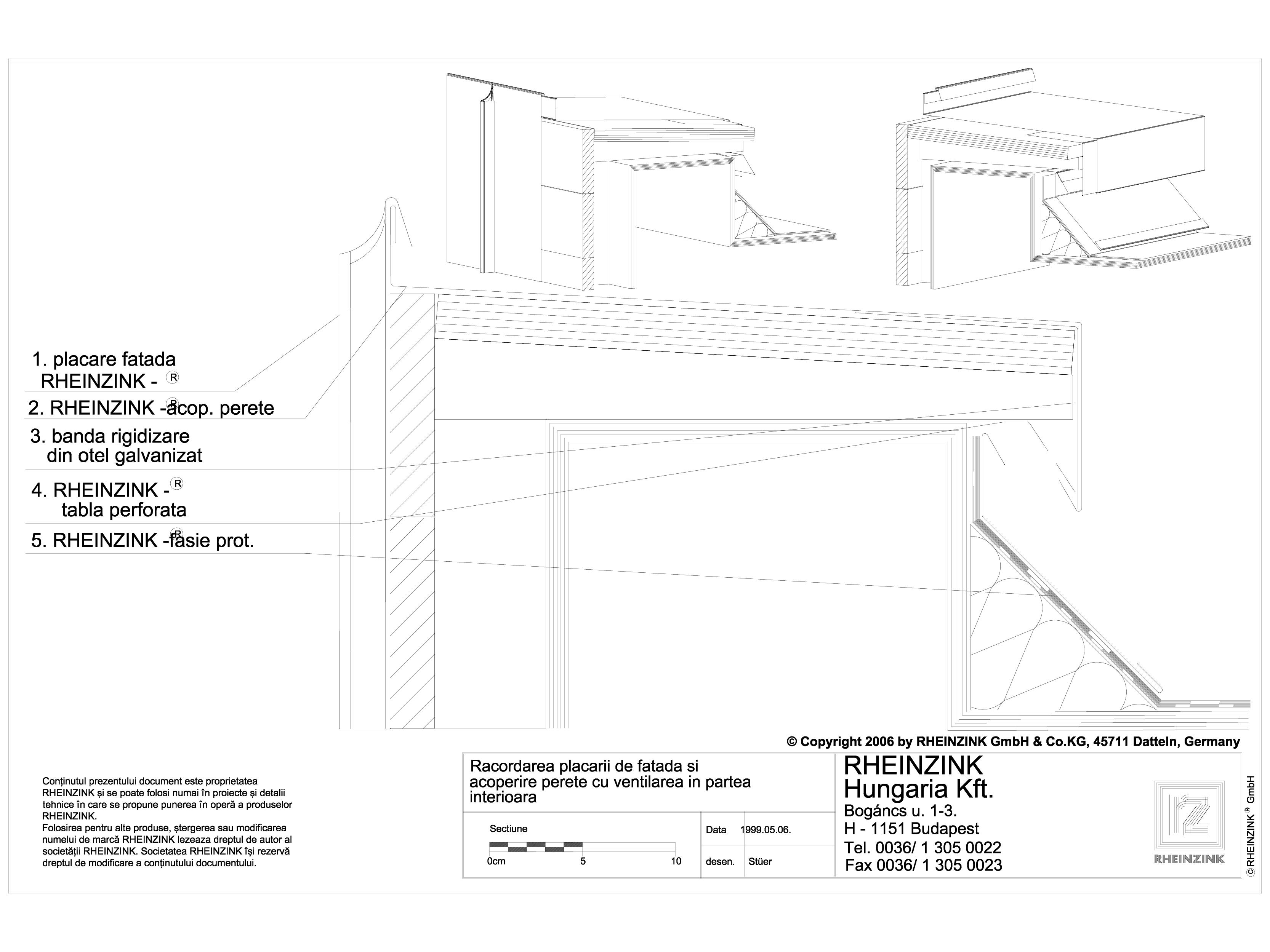 Pagina 1 - CAD-DWG Racordarea placarii de fatada si acoperire perete cu ventilarea in partea...