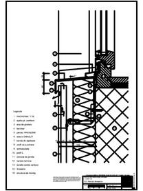 Tabla cutata - V2 Pervaz fereastra cu profil iesit din planul peretelui RHEINZINK