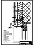 Tabla cutata - V3 Boiandrug cu lacrimar in planul peretelui RHEINZINK - trapezoidal