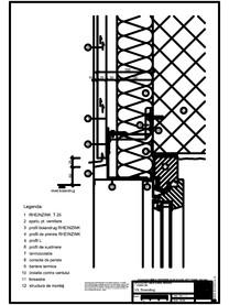 Tabla cutata - V3 Boiandrug cu lacrimar in planul peretelui RHEINZINK