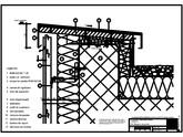 Tabla cutata - V4 Rebord perete iesit din planul peretelui, 1 element RHEINZINK