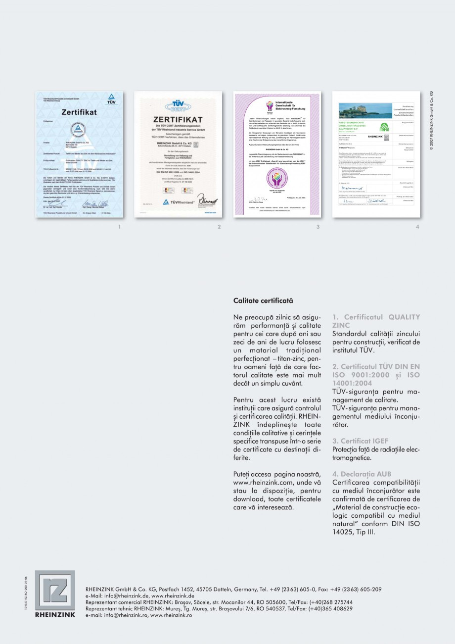 Pagina 8 - Solutii din tabla titan zinc pentru fatade RHEINZINK orizontale, Steckfalz, Stulp,...