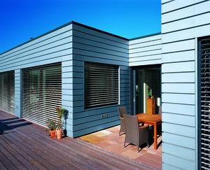Casa cu panouri tabla pentru fatada orizontale Steckfalz Stulp ondulat trapezoidal Sistem faltuit Solutii speciale Solzi