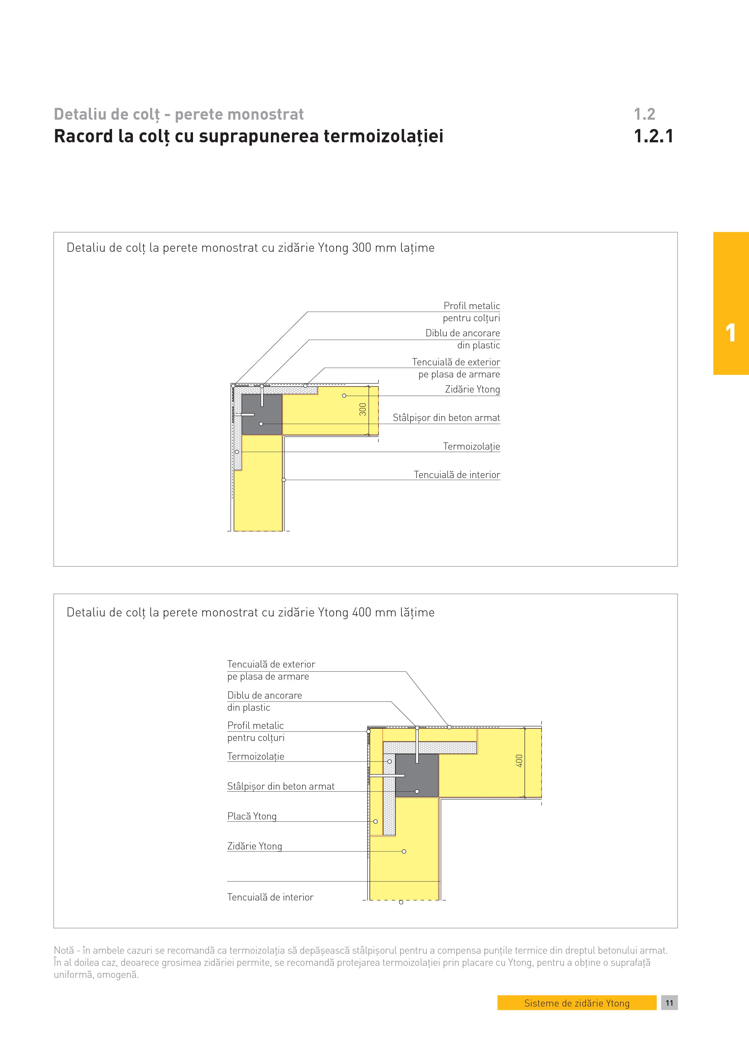 Pagina 1 - CAD-PDF Detaliu de colt - perete monostrat. Racord la colt cu suprapunerea termoizolatiei...