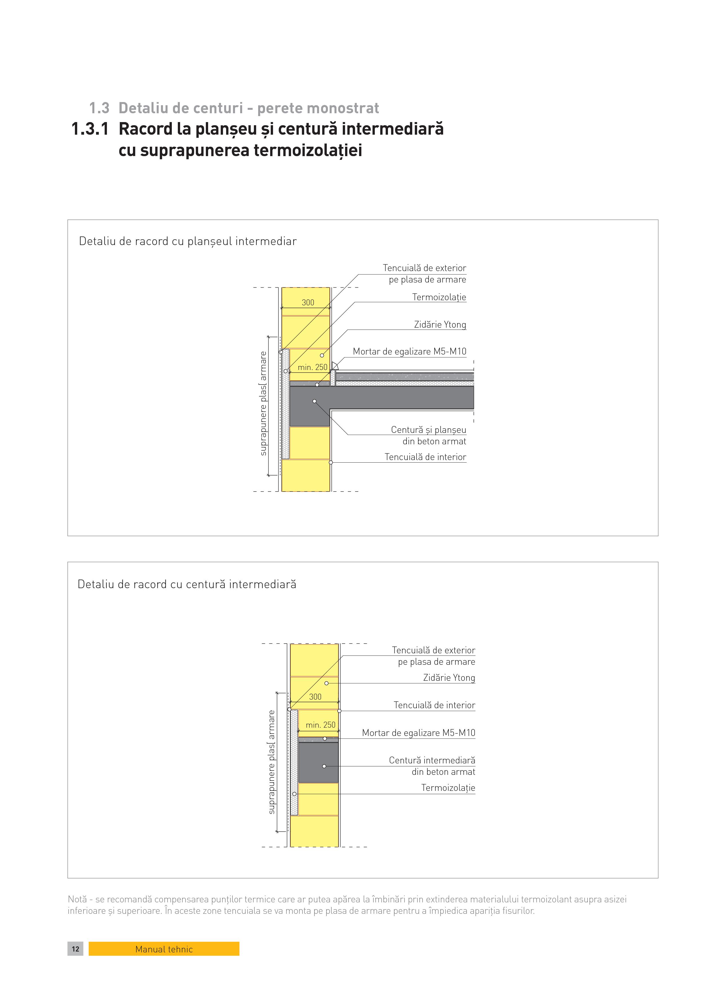 Pagina 1 - CAD-PDF Detaliu de centuri - perete monostrat. Racord la planseu si centura intermediara ...