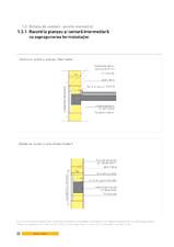 Detaliu de centuri - perete monostrat. Racord la planseu si centura intermediara cu suprapunerea termoizolatiei YTONG